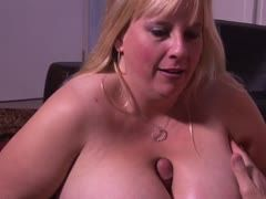 Blonde and fat with big tits