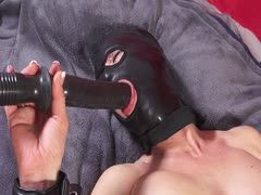 Bondage sex with black mask