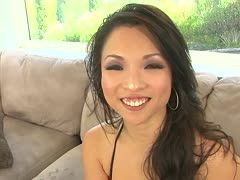 Asian nylon slut fucks with a negro